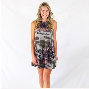 Floral prints dress on the front